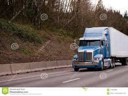 100 How Wide Is A Semi Truck Modern Blue Powerful Stylish Big Rig With Trailer