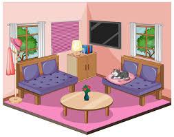 wohnzimmer interieur mit möbeln in rosa thema 1778108