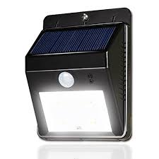 lightahead皰 bright outdoor solar energy powered 4 led security