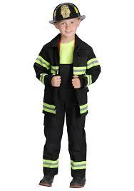 Black Firefighter Costume - Kids Firefighter Halloween Costumes