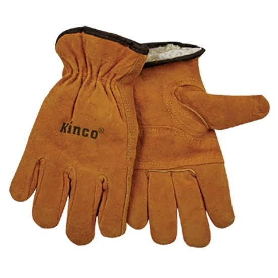 Kinco Lined Split Cowhide Leather Driver Gloves - Medium