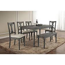 Acme Furniture Wallace Dining Table In Weathered Gray Finish 71435