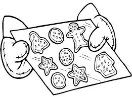 christmas cookie clipart black and white 2