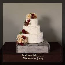 14 Rustic Wedding Cake Stand Weathered Ivory Country Decor