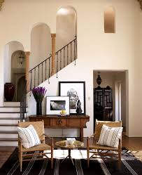Small Foyer Tile Ideas by Wall Mounted Lampshade Fixture Over Fabric Seating Bench On Dark