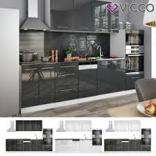 vicco küche fame line küchenzeile einbauküche 295cm weiß