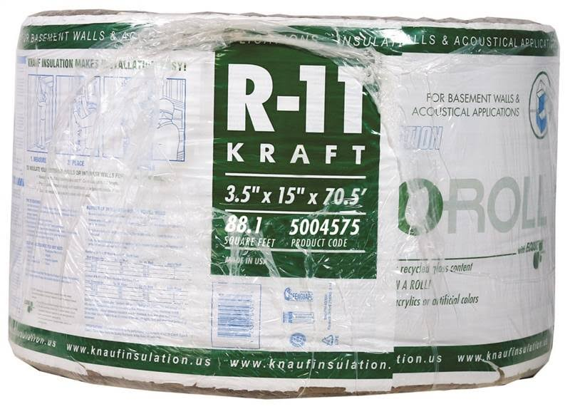 Guardian Building Prod KR41E/TAK Fiberglass Insulation Roll, 15in x 70.5ft