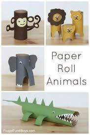These Simple Toilet Paper Towel Roll Animals Are Fun For Kids And Make Some Cute Shelf Decor