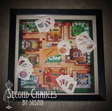 Second Chances By Susan Vintage Board Game Shadow Boxes