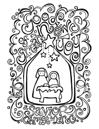Free Nativity Coloring Page Activity Placemat Fab N And Pages