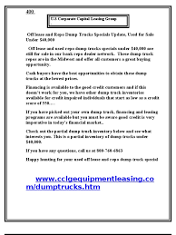 Off Lease And Repo Dump Trucks Specials Update, Used For Sale ... Unlikable Cdl Truck Things Predatory Lease Owner Operator Commercial Leasing Bergeys Fleet Programs Rti Kenworth T680 Available For Purchase Youtube Sales Quality Companies Lepurchase Fancing Vehicles Engs Finance Chevy Truck Lease Specials Mania Does Your Need An Upgrade Program Isuzu Low Cab Forward Trucks Crete Carrier No Longer Leasing On Quality Lease Trucks