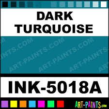 Dark Turquoise Ink Tattoo Paints