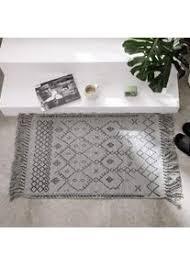 abreeze boho teppich aus baumwolle mit teppich pad 60 x 90