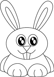 Bunny Rabbit Coloring Pages Clip Art Library Face Page Animal