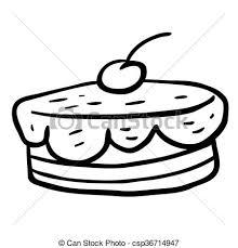 Black And White Cherry Cake Vector