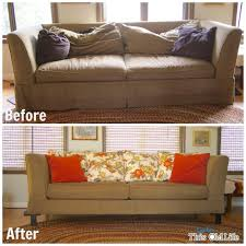Replacement Sofa Pillow Inserts by A Diy Sofa Makeover
