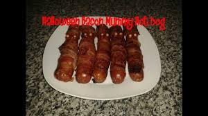 Halloween Hotdog Fingers Recipe halloween bacon mummy dog recipe youtube