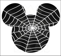 Mickey Mouse Halloween Coloring Pictures by Mickey Mouse Spider Web Instant Download Halloween Digital Clip