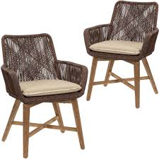 Brown Armena PE Wicker Outdoor Dining Chairs | Temple & Webster Cantik Gray Wicker Ding Chair Pier 1 Rattan Chairs For Trendy People Darbylanefniturecom Harrington Outdoor Neptune Living From Breeze Fniture Uk Corliving Set Of 4 Walmartcom Orient Express 2 Loom Sand Rope Vintage Weng With Seats By Martin Visser For T Amazoncom Christopher Knight Home 295968 Clementine Maya Grey Wash With Cushion Simply Oak Practical And Beautiful Unique Cane Ding Chairs Garden Armchair Patio Metal