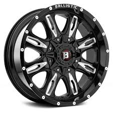 Ballistic Scythe 953 Wheel 17x9 6x5.5 +12mm Black FREE LUGS-DISCOUNT ...