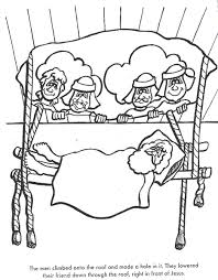 BIBLE COLORING PAGES The Paralyzed Man