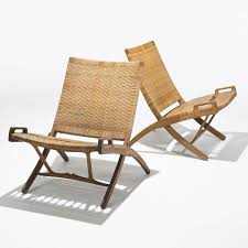 Flag Halyard Chair Replica by Hans Wegner Folding Chairs Model 512 Pair