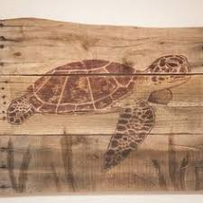 Sea Turtle Pallet Wood Art Rustic Beach Decor Lake House Coastal Living Style