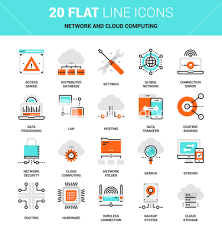 100 Flat Cloud Vector Set Of Network And Data Technology Cloud Computing