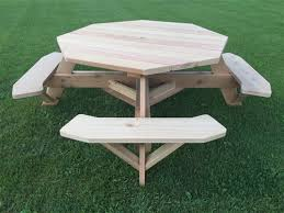 large 8 sided picnic table 61