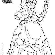 Operetta With Her Pet Coloring Pages