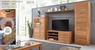 c 3837 casera wohnkombination wohnwand für wohnzimmer wimmer kernbuche oder asteiche