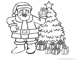 Santa Claus Coloring Pages For Kids Free Printable In