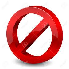 Illustration Of 3d Forbidden Sign Stock Vector