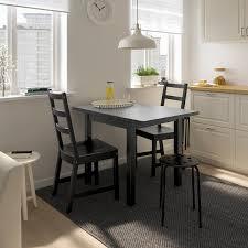 nordviken nordviken tisch und 2 stühle schwarz schwarz