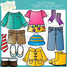The Clothing Clip Art Set Contains 36 Image Files Which Includes 18 Color Images And