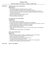 Restaurant Bartender Resume Samples | Velvet Jobs Bartender Resume Skills Sample Objective Samples Professional Cover Letter For Complete Guide 20 Examples Example And Tips Sver Velvet Jobs Duties Forsume Best Description Of Hairstyles Mba Pdf Awesome Nice Impressive That Brings You To A 24 Most Effective Free Bartending Bartenders