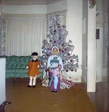 Aluminum Christmas Tree Vintage Doll Untitledgjihkj