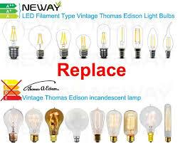 3 5w led filament type vintage edison light bulbs e27