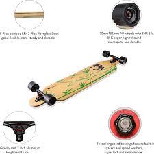 100 Downhill Longboard Trucks Lrfzhicg Drop Through Bamboo Cruising Skateboards