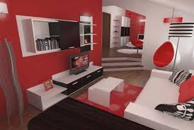Red Room Decor Best Black And White Living Decoration Using