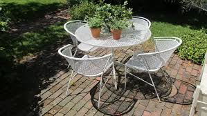 Vintage Homecrest Patio Table by Vintage Wire Outdoor Furniture Home Design Ideas