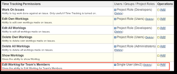 Edit Worklogs For Team Members Permission