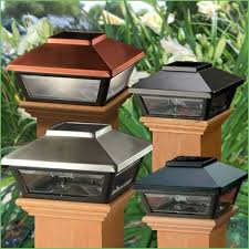 6x6 deck post caps solar lighting solar deck post cap lights lowes prestige solar post