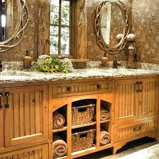 Rustic Style Bathrooms Woodsy Bathroom Decor