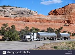 100 Truck Manufacturers Usa MOAB UNITED STATES JUNE 23 2013 Peterbilt Truck Drives A Scenic