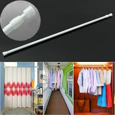 Spring Tension Curtain Rods Extra Long by 50 80cm Extendable Adjustable Spring Tension Curtain Rod Pole
