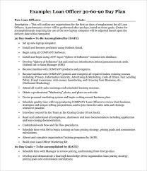 Printable Loan Officer 30 60 90 Day Plan Pdf Download