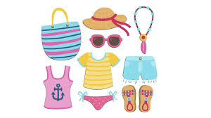 How To Draw Summer Accessories For Beach