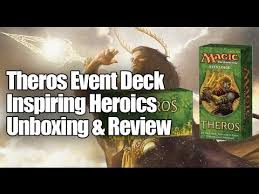 theros event deck inspiring heroics unboxing review youtube