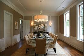 Exceptional Transitional Dining Room Chandeliers Within Wainscoting Giannetti Home